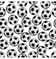 Football or soccer balls seamless pattern vector image