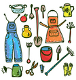gardening tools pattern vector image