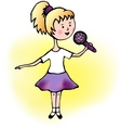 Girl singing vector image