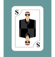 Playing card secret agent Scout spy Conceptual new vector image