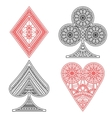 Poker set in ethnic style vector image