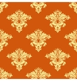 Retro yellow and orange floral seamless pattern vector image