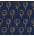 Seamless Pattern with Vintage Balloons vector image