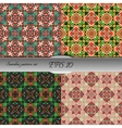 Set of elegant seamless patterns with floral and vector image