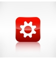 Settings icon Gear symbol Application button vector image