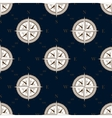 Vintage compass seamless pattern background vector image