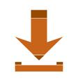 Arrow download symbol icon vector image vector image