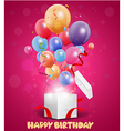 Birthday balloon out of the gift box vector image