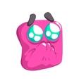 Begging Pink Emoji Cartoon Square Funny Emotional vector image