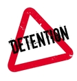 Detention rubber stamp vector image