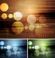 Bright abstract hi-tech backdrops vector image