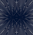 Op art moire pattern Relaxing hypnotic background vector image