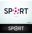 simple sport text vector image vector image