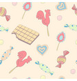 candy pattern vector image