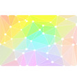 light rainbow geometric background with mesh and vector image