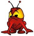 red alien vector image