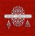 Vintage Christmas text greeting card vector image