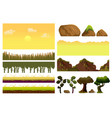 game cartoon elements set with pieces of fantasy vector image