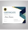 certificate template - horizontal elegant vector image