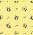 seamless pattern of bees vector image vector image