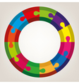 colorful round puzzle vector image vector image