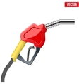 Fuel handle pump nozzle with hose isolated on vector image