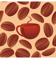 seamless coffee beans vector image