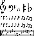 music note selection vector image