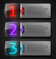 Metal banners with luminous numbers vector image vector image