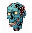 blue zombie head vector image