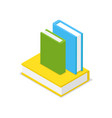 books set isometric 3d icon vector image