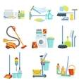 Cleaning Household Equipment Sets vector image