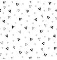 Hand drawn triangle geometric seamless pattern vector image
