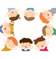 Happy kids isolated vector image