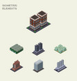 Isometric architecture set of water storage vector image