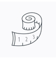 Measuring tape icon Weight loss sign vector image