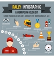 Rally infographic flat style vector image
