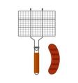 Grilling basket vector image