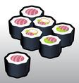 Teka Makki Sushi vector image