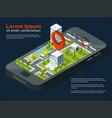 3d city concept picture different business vector image