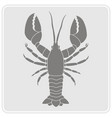 monochrome icon with lobster vector image