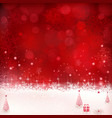 Red Christmas winter background 01 vector image vector image