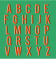 Multiplied retro alphabet vector image