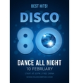 Disco party Best hits of the 80s vector image