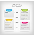 Business infographics with soft gray boxes and vector image