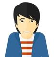 Embarrassed asian man vector image