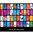 Big set of abstract cards vector image vector image