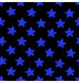 Blue star on black seamless pattern vector image