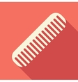 Hair comb icon flat style vector image