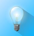 Incandescent lamp vector image